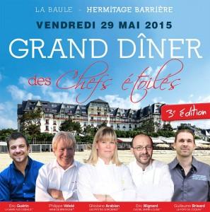 Grand dîner des chefs étoilés 2015 @ Hôtel Hermitage | La Baule-Escoublac | Pays de la Loire | France